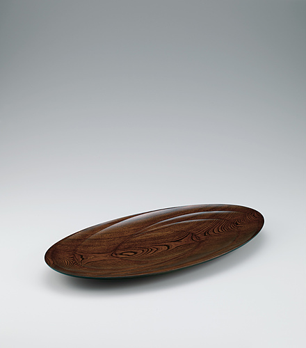 欅拭漆盛器「風の舞」