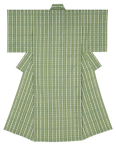 風通織木綿着物「五月の朝」