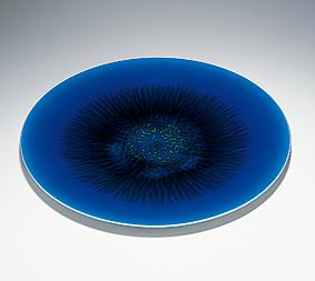 彩釉鉢「深海」