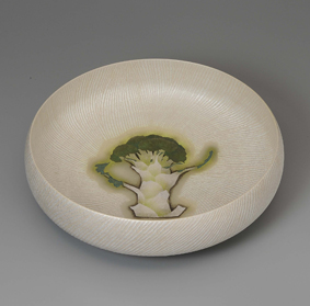 銀泥彩磁鉢