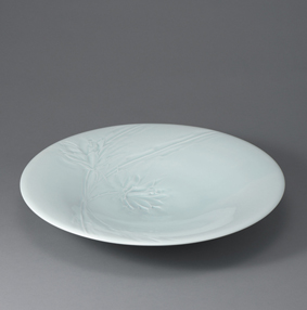 彫月下美人文鉢