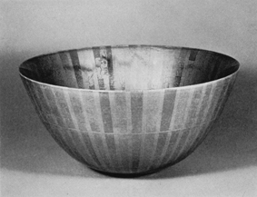 釉裏銀彩切箔鉢