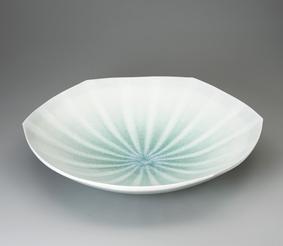 灰釉線文鉢