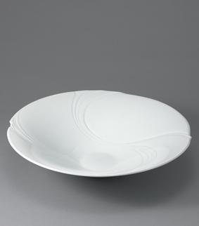 白磁流線文鉢