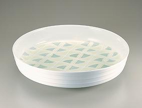 白磁黄緑釉公孫樹文鉢