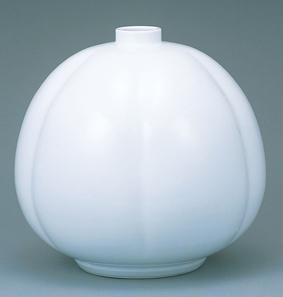 白磁瓜形壺