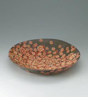 無名異練上花紋鉢