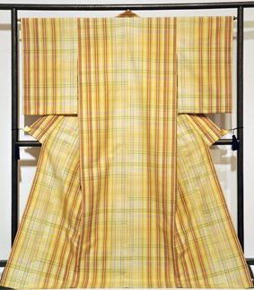 紬織着物「希望の色襲」