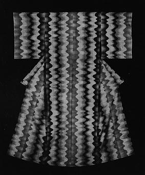 紬織着物「流動文」