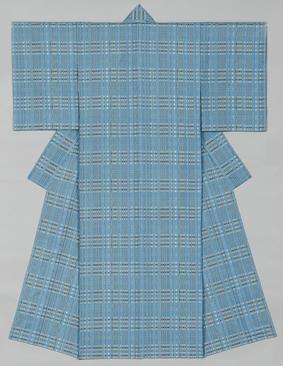 風通織木綿着物「窓から」