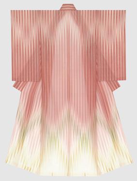 紋紗着物「桃花源」