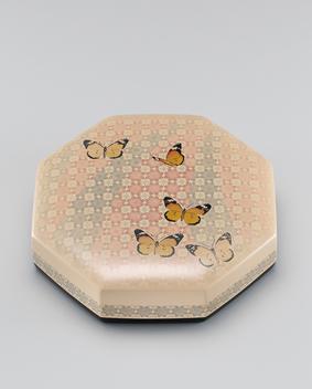 籃胎蒟醤八角食籠「蝶」
