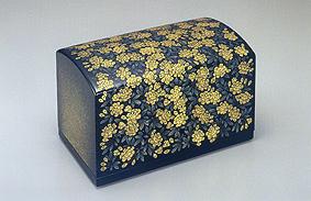 沈金小箱「木香ばら」