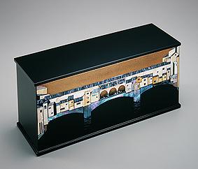 彩切貝蒔絵箱「九月のフィレンツェ」PonteVecchio