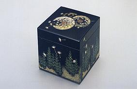 沈金小箱「春の草」