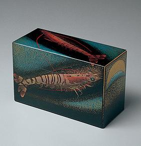 海老蒔絵飾箱「生」