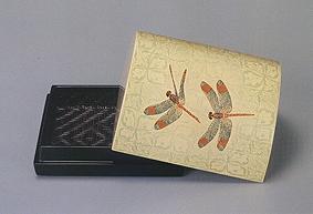 籃胎蒟醤香盒「赤とんぼ」