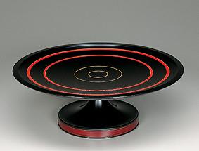 曲輪造黒溜盛器