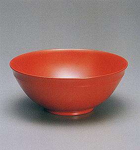 ケン胎造朱漆鉢