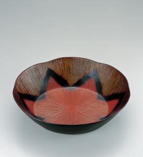 乾漆縄花文鉢