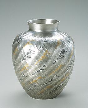 南鐐花瓶「渡津海」