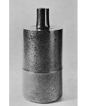 鋳銅花瓶(竹線文)