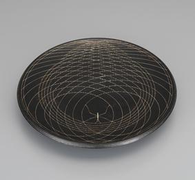 魚々子象嵌皿「水紋」