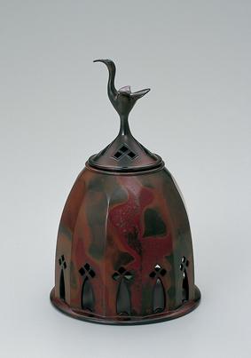 鋳紫銅面取香炉