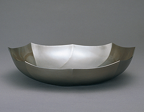 鍛朧銀舟形鉢