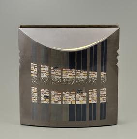 象嵌朧銀花器「夕映のイスタンブール」