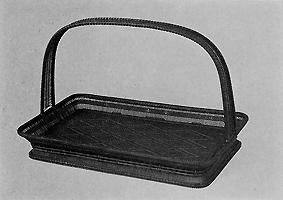 竹刺編菱文堤盤
