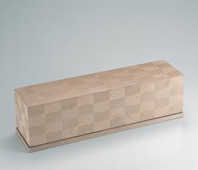 神代杉木画短冊箱
