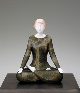 桐塑「瞑想」